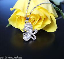 Damen Halskette Anhänger Schmetterling Kristall Schmuck Geschenk