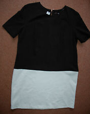NEW Gok Sz 18 S Statement Shift Dress with short sleeves Monochrome Trend