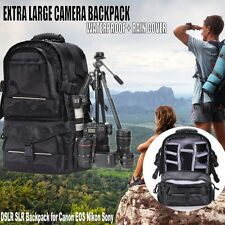 Multifunctional Deluxe Black DSLR Camera Backpack Bag Case for Sony Canon Nikon