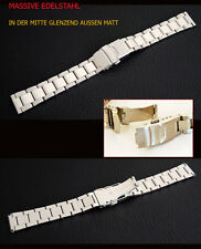 MASSIVE STAINLESS STEEL WATCH STRAP 26 MM WITH SECURITY FOLDING CLASP NEW