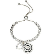 Silver Friendship Engraved Charm Bracelet