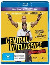 Central Intelligence (Blu-ray, 2016) NEW SEALED FREE POST
