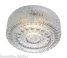 Traditional Flush Ceiling Light - Irina Patterned Glass 60W - 70172/01/60