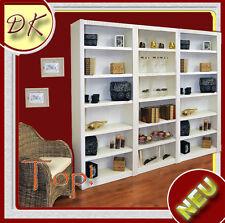 Standregal Bücherregal Schrank Bücherwand Regal Kiefer Massivholz weiß lasiert