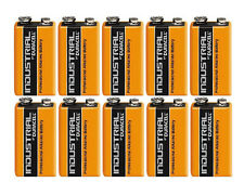 10 x DURACELL INDUSTRIAL 9v PP3 MN1604 BLOCK ALKALINE BATTERIES REPLACES PROCELL