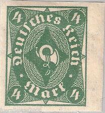 Deutsches Reich MiNr 226 a U * ungezähnte Marke mit Rand + Signum INFLA BERLIN