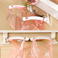 Kitchen Cupboard Easy to Use Tailgate Stand Storage Garbage Bags Hanging Hooks