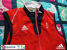 ADIDAS TEAM GB ISSUE - TRAINING FOR  RIO  2016 OLYMPICS - ATHLETE RED GILET/VEST