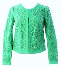 NWT $168 BODEN SEAFOAM GREEN EMBROIDERED FLORAL LACE ARIANNA JACKET WE437 - US 2