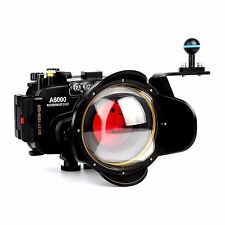 Sony A6000 40M Waterproof Camera Housing Case dome Port lens + Filter + Handle