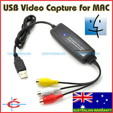 USB Video & Audio Capture Adapter for Apple Mac iMac Macbook Computer Plug&Play