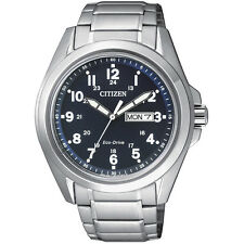 Citizen Eco-Drive AW 0050-58L. Stainless Steel Mens Watch. Classic Look.