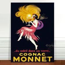 """Vintage Alcohol Advertising Poster Art ~ CANVAS PRINT 8x12"""" Cognac Monnet"""