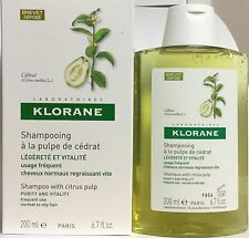 2 x Klorane Citrus Pulp Shampoo with Vitamins For Normal to Oily Hair 200ml