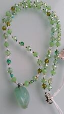 NEW! Handmade GoodLuxe Green Crystal Necklace with Large Stone