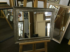 "NEW LARGE MODERN PEWTER WALL MIRROR 24""x20"" - EX DISPLAY ITEM"
