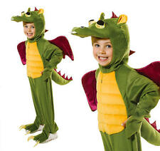 Childrens Green Dragon Fancy Dress Costume Monster Halloween Outfit Kids M