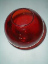 Red Ruby Glass Rose Bowl - Ivy Ball Vase