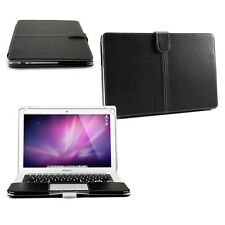 """Smart Black Premium PU LEATHER Sleeve Case Cover for Apple MacBook Air 13"""""""