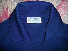 GILWEAR trevira vintage 1960 rockabilly MOD navy v-neck collar raglan top 14
