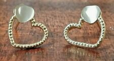 Chic Gold Plated Love Hearts with Opal Heart Beautiful fashion stud earrings