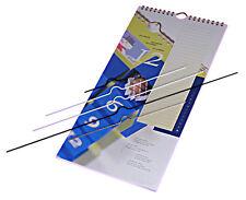50 Kalenderaufhänger Draht, 20 cm, weiß, Kalenderhaken Standard
