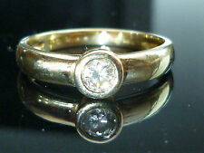 Stunning NEW 18ct Yellow gold OFFICIAL 0.25ct diamond solitaire ring heavy Oct30