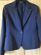 NEW BROWN STRIPPED JACKET SIZE 12 MACHINE WASHABLE