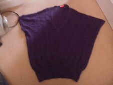 Ladies MONSOON purple plum batwing top size S, soft Angora FREE POSTAGE