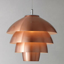 JOHN LEWIS OSLO LAYERED CEILING PENDANT LIGHT COPPER