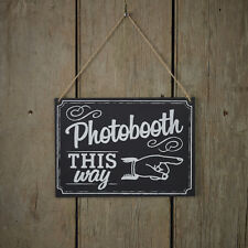 VINTAGE PHOTOBOOTH / PHOTO PROPS WOODEN CHALKBOARD SIGN WEDDING/PARTY DECORATION