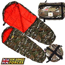 H.M Armed Forces Army Ghillie Camouflage Childrens Sleeping Bag Camping Festival