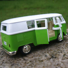 T1 Micro Bus 5'' Volkswagen van Alloy Diecast Model Cars White and Green Gifts