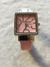 Geneva Platinum Pink Dial Silver Tone Case Ladies Quartz Watch