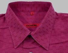 TC6195 SIGNUM Freizeit-Hemd Bordeaux Rot Streifen Karos langarm Gr.S wie Neu