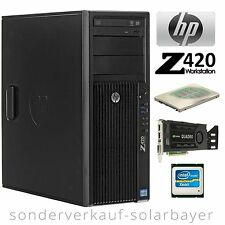 HP Z420 Workstation Xeon E5-2660 Octa Core +RAM 16GB +HDD 500GB +Quadro 600 W7