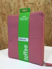 BRAND NEW Toffee Leather APPLE iPad sleeve/bag/wallet - pink
