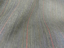 Charcoal Grey Striped English Wool Blend Suit,Suiting Fabric. PRICE PER METRE!