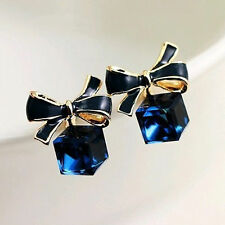 1 Pair New Women's Fashion Cute Lady Elegant Crystal Rhinestone Ear Stud Earring