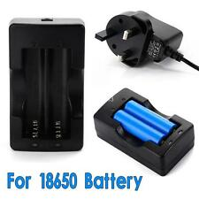 LI-ION Battery Charger for Rechargeable  2X 18650 3.7V Battery Travel  UK Plug