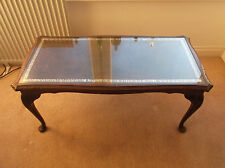 Reproduction Antique Mahogany & Glass Coffee Table