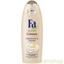 6 x 250ml Fa Dusche Cream & Oil Kakaobutter
