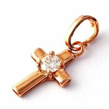 Fashion Jewelry Crystal Stone Pendant Cross Rose Gold Filled for men/women