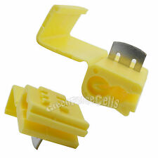 30x Electrical Terminals Crimp Quick Splice Lock Wire Connector 12-10 awg Yellow