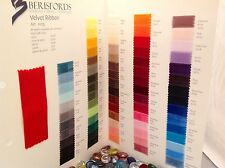 Berisfords Velvet Ribbon - SHADE CARD - Have a Shade Card Posted to You!