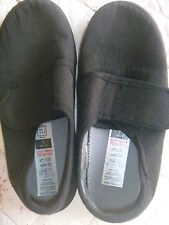 TU KIDS BLACK SCHOOL BLACK PUMPS VELCRO SIZE 11