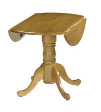 Drop Leaf Pedestal Table Kitchen Dining Furniture Wooden Extending Small Round