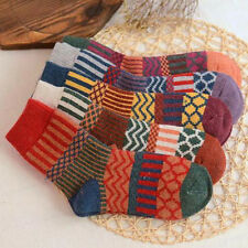 New 5 Pairs Women Wool Cashmere Warm Soft Thick Casual Multicolor Winter Socks x
