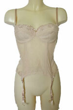 BNWT Sexy Ladies Blush Lace Underwired Strapless Bustier Size 34B Free UK Post