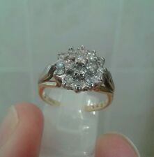 BARGAIN! 18CT GOLD DIAMOND CLUSTER RING - 0.75CT - 5g